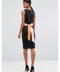 ASOS - Robe fourreau avec ceinture color block - Noir