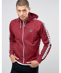 Fred Perry Sports Authentic Track Jacket In Maroon - Rot