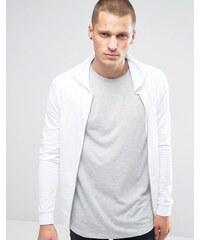 ASOS - Sweat à capuche moulant en jersey léger avec fermeture éclair - Blanc - Blanc