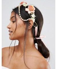 Her Curious Nature - Haarband mit Kunstperlen und -Blumen - Mehrfarbig