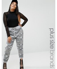 Missguided Plus - Pantalon de survêtement motif camouflage - Gris