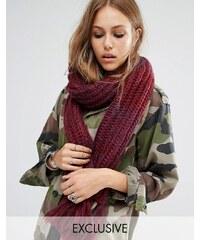 Reclaimed Vintage - Langer Schal mit Zopfmuster - Rosa
