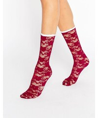 Gipsy - Chaussettes en dentelle - Rouge