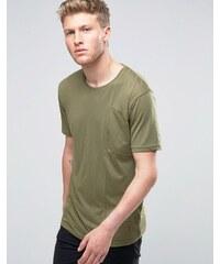 Ringspun - T-shirt à poche biseautée - Kaki - Vert