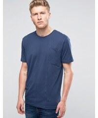 Ringspun - T-shirt à poche biseautée - Bleu marine - Bleu marine