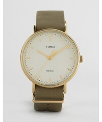 Timex - Weekender Fairfield - Montre 41mm à bracelet en cuir - Vert - Vert