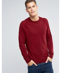 Abercrombie & Fitch - Roter Feinstrickpullover mit Logo - Rot