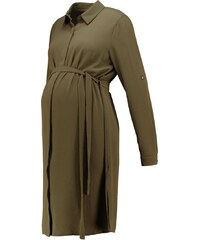 New Look Maternity Robe chemise dark khaki
