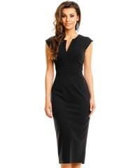 Dámské šaty V-neck černé - černá