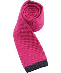 Hedvábná pletená kravata - růžová