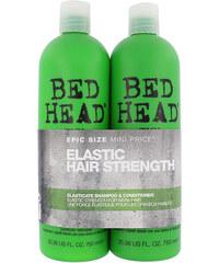 Tigi Bed Head Elasticate Duo Kit dárková sada W - 750m Bed Head Elasticate Strengthening Shampoo + 750ml Bed Head Elasticate Strengthening Conditioner Pro posílení a pružnost vlasů