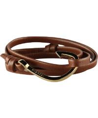 Miansai - Wickelarmband mit Gold-Haken Braun
