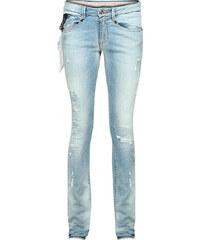 Loveday Jeans 'Sophie' Slim-Fit Jeans in Used-Optik Stonewashed Blue