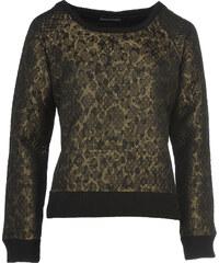 The Textile Rebels Sweatshirt mit Metallic Effekt Schwarz/Gold