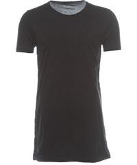 Unconditional Uncoditional T-Shirt mit seitlicher Knopfleiste Schwarz