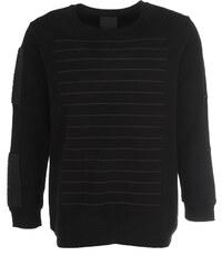 Trinitas Sweatshirt Schwarz mit Linien-Design