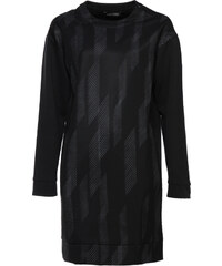 Each x Other langes Sweatshirt-Kleid Gemustert Schwarz