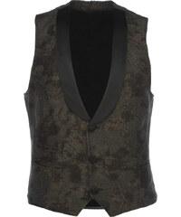 Dornschild W5-1 Anzug Weste mit Satin-Kragen Grün