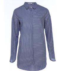 Amorph BOYFRIEND Bluse Blau-Weiß Gestreift