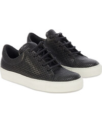 The Last Conspiracy perforierte Leder Sneakers in Schwarz