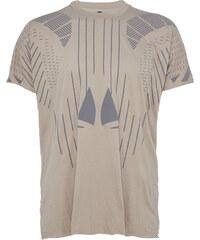 Barbara I Gongini T-Shirt gemustert in Grau-Braun