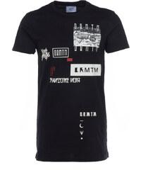 DRMTM FRAKTAL langes T-Shirt mit Print in Schwarz