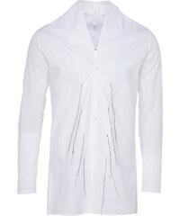 Damir Doma SYRI langes Hemd mit Stehkragen in Weiß