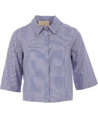 Kaos kurze Bluse Karo-Design in Blau-Weiß-Rot