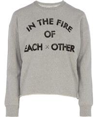 Each x Other Sweater Print in Grau meliert