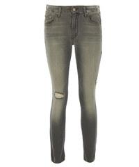 Mother THE LOOKER CROP Jeans Used-Look in Grau