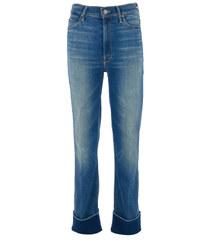 Mother THE MAVERICK CUFF High-Rise cropped Jeans in Blau