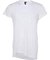 Umasan langes T-Shirt in Weiß