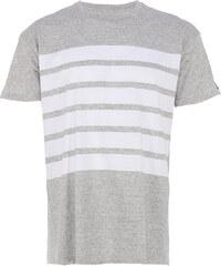 Zanerobe HIGHWAY EZBOY T-Shirt mit Streifen in Grau-Weiß