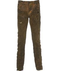Versuchskind Berlin Versuchskind X2-SLIM TAPERED Jeans mit Knitter Optik in Grün