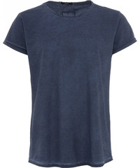 Tigha MILO SLUB T-Shirt in Vintage Blau