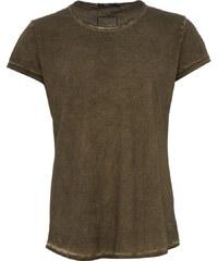 Tigha MILO SLUB T-Shirt mit verlängertem Saum in Vintage-Grün