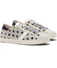 D.A.T.E HILL LOW FLOCK POIS Sneakers in Grau