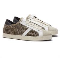 D.A.T.E HILL LOW PONY FANTASY TWEED Sneakers in Schwarz-Weiß