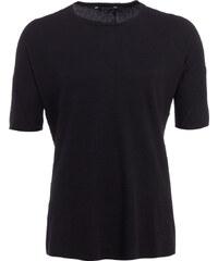 Hannibal ARVID T-Shirt knitter-Look in Schwarz