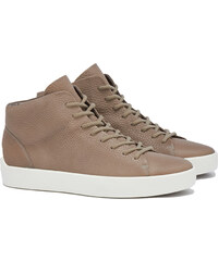 The Last Conspiracy x Ecco GUNNAR Mid Top Sneakers in Khaki