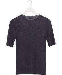 Drykorn TINIA Feinstrick T-Shirt in Blau-Grau