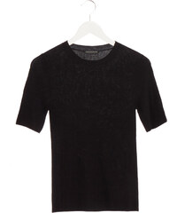 Drykorn TINIA Feinstrick T-Shirt in Schwarz