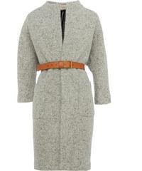 Ba&sh JANUARY Woll-Mantel mit Taillengürtel in Grau meliert