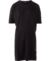 Denham Sweatshirt-Kleid mit Ziernähten in Schwarz