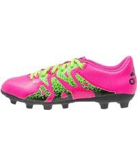 adidas Performance X 15.4 FXG Chaussures de foot à crampons shock pink/solar green/core black