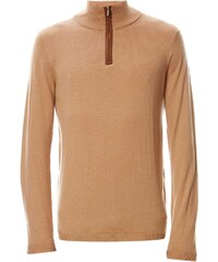 Best Mountain Pullover mit Wollanteil - mokafarben