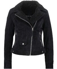 Freaky Nation TEDDYGIRL Veste en cuir navy black