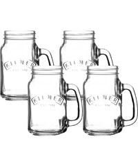 Kilner Set de 4 mugs 440 ml - transparent