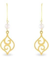 Histoire d'Or Boucles d'oreilles en or avec perles - jaune
