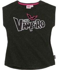 Chica Vampiro T-Shirt grau in Größe 116 für Mädchen aus 60% Polyester 35% Baumwolle 5% Elasthan
